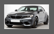 BMW 2-Series M2 (Type F22) 2014- Door Handle Cups CLEAR Paint Protection