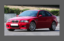 BMW M3 (Type E46) 2000-2006 Side Skirts & Wings Lower CLEAR Paint Protection