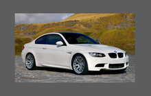 BMW M3 (Type E92) 2008-2013 Lower Side Panels CLEAR Shield