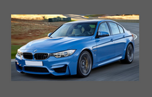 BMW M3 (Type F80) 2014-, Front & Rear Side Sill Skirt Trim sections CLEAR Paint Protection