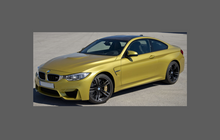 BMW 4-Series / M4 (Type F32 F33) 2013-2020,  Front & Rear Arches CLEAR Paint Protection