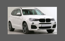 BMW X3 Series M-Sport (Type F25) 2014-2017, Front Bumper CLEAR Paint Protection