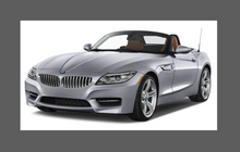 BMW Z4 (Type E89) 2009-2016 Door Mirror Covers CLEAR Paint Protection