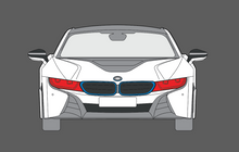 BMW i8 2014- Headlights CLEAR Stone Protection