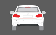 BMW 2-Series (228i, M235i) (Type F22) 2014- Rear Bumper Upper CLEAR Paint Protection
