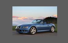 BMW Z3 (Type E36/7 / E36/8) 1995-2002 Door Mirror Caps CLEAR Paint Protection