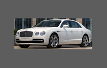 Bentley Flying Spur 2014-Present, Side Sill Skirt Trims CLEAR Paint Protection