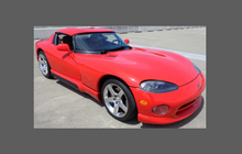Dodge Viper (Type mk1 & Mk2) 1991-2002, Headlights CLEAR Paint Protection