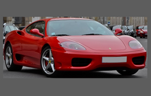 Ferrari 360 Modena 1999-2005 Bonnet & Wings Front Sections CLEAR Paint Protection