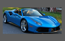 Ferrari 488 GTB / Spider 2015-, Side Skirt Trims CLEAR Paint Protection