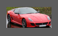 Ferrari 599 (GTO GTB SA) 2006-2012, Rear Arch Sections CLEAR Paint Protection