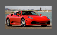 Ferrari F430 430 2004-2009, Mirror Covers (Text) CLEAR Paint Protection
