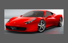 Ferrari 458 Italia 2009-2015 Door Mirror Covers CLEAR Paint Protection