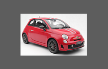 Fiat 500 Abarth 2008-2016 A-pillars CLEAR Paint Protection