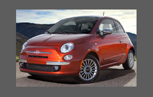 Fiat 500 2008-2016 Standard Front Bumper CLEAR Paint Protection