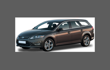 Ford Mondeo Estate (Mk4) 2007-2014, Rear Door & QTR / Wing Arch CLEAR Paint Protection