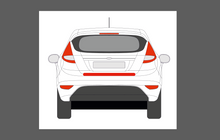 Ford Fiesta (MK7) 2013-2016 Rear Bumper Upper CLEAR Paint Protection