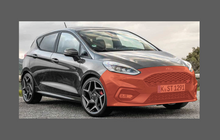 Ford Fiesta ST (Type Mk8) 2018-, Front Bumper CLEAR Paint Protection