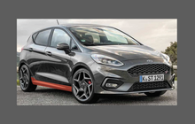 Ford Fiesta ST (Type Mk8) 2018-, Side Sill Skirt Trims CLEAR Paint Protection