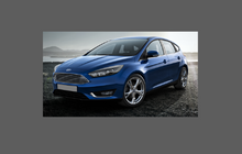 Ford Focus MK3.5 (2015-) Door Mirror Covers CLEAR Paint Protection