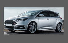 Ford Focus ST MK3.5 (2015-), Front Bumper CLEAR Paint Protection