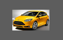 Ford Focus ST (MK3) 2011-2014, Front Bumper CLEAR Paint Protection