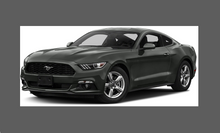 Ford Mustang (MK6) 2015-, Rear Bumper Upper BLACK Paint Protection