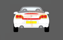 Honda S2000 1999-2009, Rear Bumper Upper CLEAR Paint Protection