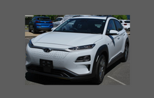 Hyundai Kona 2019-, Rear bumper Upper BLACK TEXTURED Paint Protection