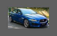 Jaguar XE (X760) 2015-2019, Door Handle Cups CLEAR Paint Protection