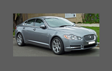 Jaguar XF (Gen 1, Type X250, Pre-facelift) 2007-2011 Headlights Front CLEAR Stone Protection
