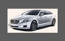 Jaguar XJ Standard (Type X351) 2009-, Side Sill Skirt Trim CLEAR Paint Protection