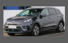 Kia E-Niro 2019-Present, Rear Door Lower Arch Sections CLEAR Paint Protection