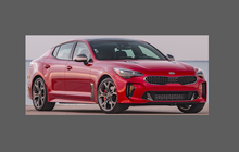 Kia Stinger 2017-, Side Sill Skirt Trims CLEAR Paint Protection