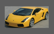Lamborghini Gallardo 2003-2008, Bonnet & Wings Front Sections CLEAR Stone Protection