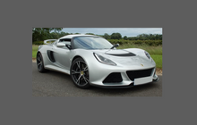 Lotus Exige S3 2012- Door Mirrors CLEAR Shield