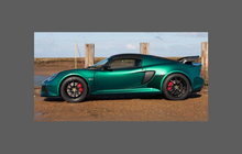 Lotus Exige S3 2012- Rear QTR/Sill skirt CLEAR Shield
