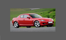 Mazda RX8 (1st Gen) 2002-2008, Rear Bumper Upper CLEAR Paint Protection