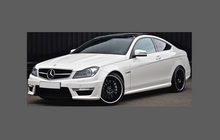 Mercedes C-Class Coupe (W204) 2007-2014, Rear QTR Arches CLEAR Paint Protection