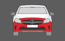 Mercedes-Benz A45 AMG (W176 Facelift)16-18, Front Bumper CLEAR Paint Protection