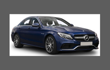 Mercedes-Benz C Class Saloon / Estate / Coupe C63 (W205) 2016-, Front Bumper CLEAR Paint Protection