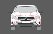 Mercedes-Benz GLA Class 45 AMG (X156) Front Bumper CLEAR Shield