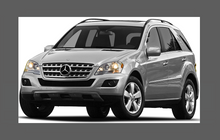 Mercedes-Benz ML (W164) 2008-2012, Headlights CLEAR Stone Protection