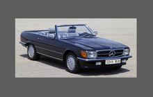 Mercedes-Benz SL Class (R107) Headlights CLEAR Stone Protection CLASSIC