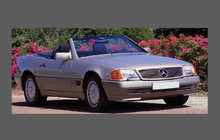 Mercedes-Benz SL Class (R129) Bonnet & Wings CLEAR Shield Set (Classic)