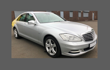 Mercedes S-Class (W221) 2006-2013, Rear Door & QTR Arches CLEAR Paint Protection
