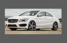 Mercedes-Benz CLA Class (W176) AMG Sport Lower Wing,Sill & Door CLEAR Paint Protection
