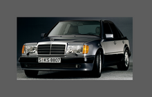 Mercedes-Benz E Class (W124) Headlights CLEAR Stone Protection CLASSIC