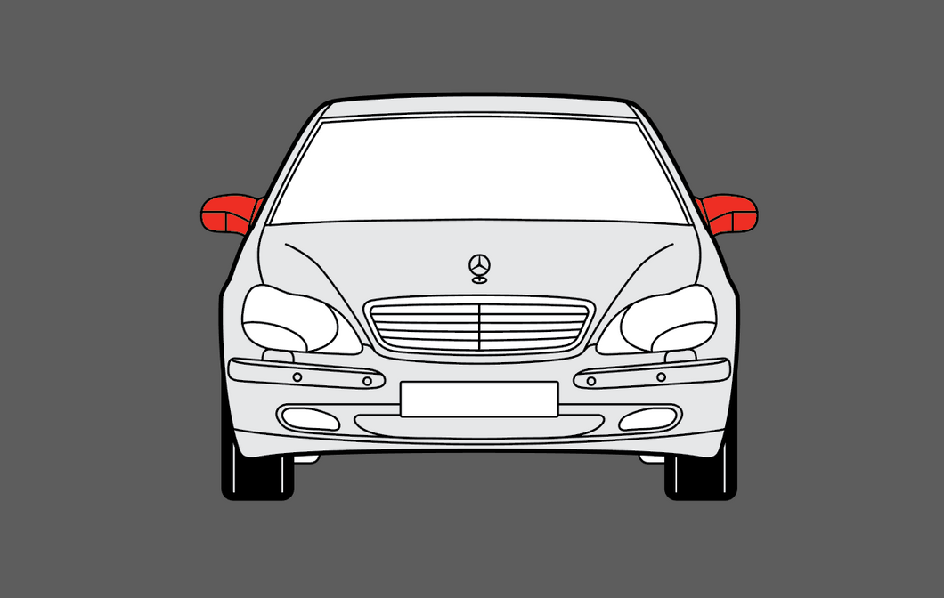 Mercedes-Benz S Class (W220) Mirror Caps CLEAR Shield