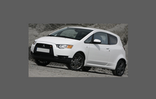 Mitsubishi Colt Ralli Art 2009-2012, Front Bumper CLEAR Paint Protection